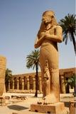 Statue of Pinedjem, Karnak temple, Luxor, Egypt. The colossal statue of Pinedjem at the Karnak temple in Luxor Royalty Free Stock Photo