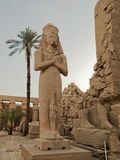 Statue of Pinedyem I in Karnak Temple. Statue of Pinedyem I in the first courtyard of the Temple of Amun at Karnak, Egypt, Africa Royalty Free Stock Images
