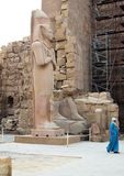 Statue of Pinedyem I in the Temple Karnak Stock Image