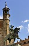 Statue of Pizarro (Trujillo, Extremadura, S. Equestrian statue of conquistador Francisco Pizarro (Trujillo, Extremadura, Spain Stock Photos