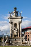Statue in Placa Espanya Stock Images