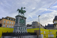 The statue of Place Guillaume II Royalty Free Stock Image