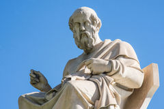 Statue of Plato in Athens. Statue of ancient Greek philosopher Plato in Athens Stock Photos
