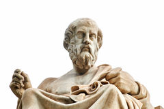 Statue of Plato in Athens. Statue of ancient Greek philosopher Plato in Athens Stock Photo