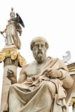 Statue of Plato in Athens. Statue of ancient Greek philosopher Plato in Athens Stock Image