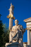 The statue of Plato. Athens, Greece. Royalty Free Stock Images