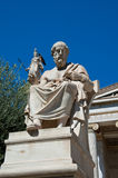 The statue of Plato. Athens, Greece. The statue of Plato on August 4, 2013 in Athens, Greece Royalty Free Stock Photos