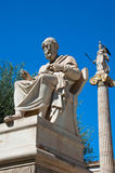 The statue of Plato. Athens, Greece. The statue of Plato on August 4, 2013 in Athens, Greece Royalty Free Stock Images