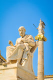 Statue of Plato. Platon in Athens, Greece Royalty Free Stock Photo