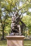 Statue of Poet/Lyricist Robert Burns, Central Park, New York Stock Images