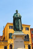 Statue of poet Paolo Sarpi in Venice Royalty Free Stock Photos
