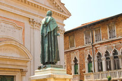 Statue of poet Paolo Sarpi in Venice Royalty Free Stock Photo