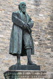 William Barnes Statue in Dorchester. A statue of poet William Barnes, located outside St. Peters Church in Dorchester, Dorset, UK Stock Images