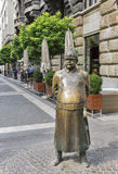 Statue of a Policeman in Budapest, Hungary. Stock Photos