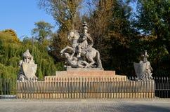Statue of the polish king John III Sobieski, Warsaw, Poland Royalty Free Stock Photo