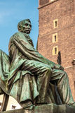 Statue of Polish poet, playwright and author Aleksander Fredro in Wroclaw Royalty Free Stock Photography
