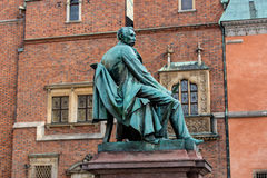 Statue of the Polish poet, playwright and comedy writer Aleksand Royalty Free Stock Images
