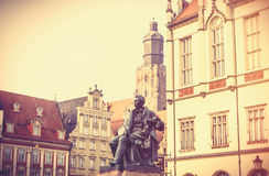 Statue of the Polish poet, playwright and comedy writer Aleksand Royalty Free Stock Photo