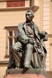 Statue of a Polish poet in Wroclaw Royalty Free Stock Photography