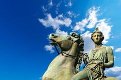 Statue of Pollux - Torino Italy Royalty Free Stock Photo