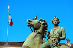 Statue of Pollux - Torino Italy Stock Image