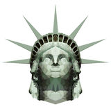 Statue polygonale de Liberty Head Photos libres de droits