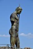 Statue, Pompeii Archaeological Site, nr Mount Vesuvius, Italy Stock Photo