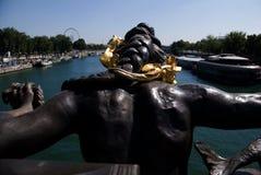 Statue Pont Alexander. Statue at bridge in Paris Stock Images