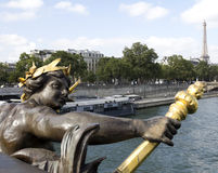 Statue on the Pont Alexandre III Royalty Free Stock Photography