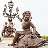 Statue on Pont Alexandre III Stock Photography