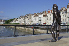 A statue on the Pont Battant Royalty Free Stock Photo