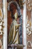 Statue of a Pope, Basilica of St. Peter, Vatican. City Royalty Free Stock Photos
