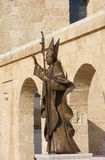 Statue of Pope Benedict XVI in South Italy Stock Images