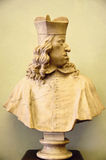 Statue of Pope. Bust sculpture of a Pope from middle ages Royalty Free Stock Photo