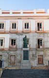 Statue of Pope in Cadiz Spain royalty free stock photo