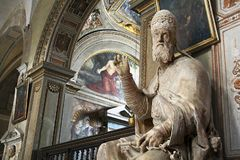 Statue of Pope Gregory XIII - Rome stock photography