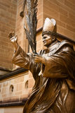 Statue of Pope John Paul the Great. Statue of Pope John Paul the Great at St Mary's Cathedral, Sydney, Australia Stock Image
