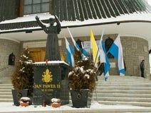 Statue of Pope John Paul II. At Zakopane Stock Photos