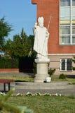 Statue of Pope John Paul II in Astana Royalty Free Stock Photos