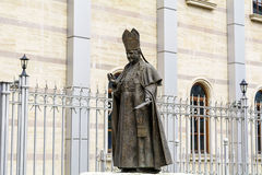 Statue of pope John Paul II in Bulgaria,Sofia Royalty Free Stock Image