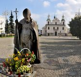 Statue Pope  John Paul II  in Czestochowa  - Poland Stock Photo