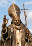 Statue of Pope John Paul II. In his hometown, Wadowice, Poland Royalty Free Stock Photos