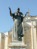 Statue of pope John Paul II (Karol Wojtyla) in front of Madrid A Royalty Free Stock Photo