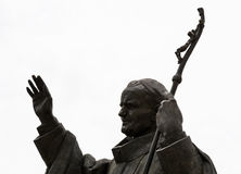 Statue of pope John Paul II in Nitra city Royalty Free Stock Photography