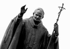 Statue of pope John Paul II Stock Photos