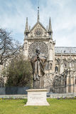 Statue of Pope John Paul II (Notre-Dame) Stock Photography
