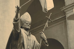 Statue of Pope John Paul II Stock Image