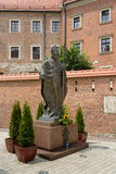 Statue of Pope John Paul II. A statue of the polish pope at Wawel hill complex in Krakow, Poland Royalty Free Stock Photography