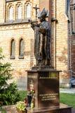 Statue of Pope John Paul II in Sadowne Stock Image