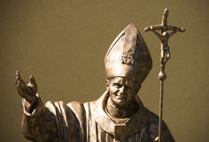 Statue of pope John Paul II Stock Photography